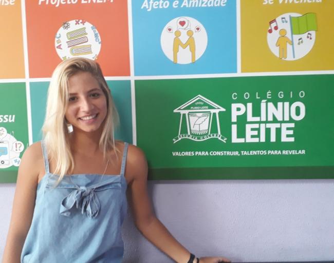 Ex aluna Plínio Leite está na UFF