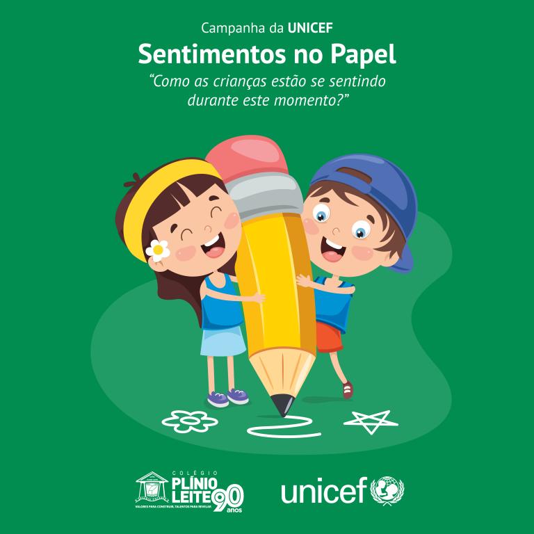 """Sentimentos no Papel"" – Inspirado na UNICEF, Plínio propõe atividade aos alunos"